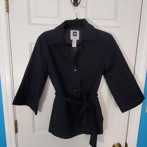 Light weight Gap jacket S black tied waist